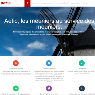developpeur site aetic